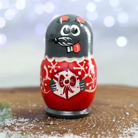Матрёшка 3-х кукольная «Мышка» МИКС - фото 2240120