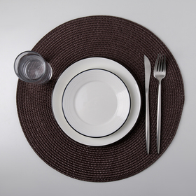 Салфетка кухонная «Лофт», d=38 см, цвет коричневый
