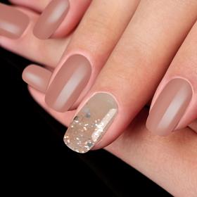 "False nails adhesive decor ""Pink dream"", glossy, color light pink"