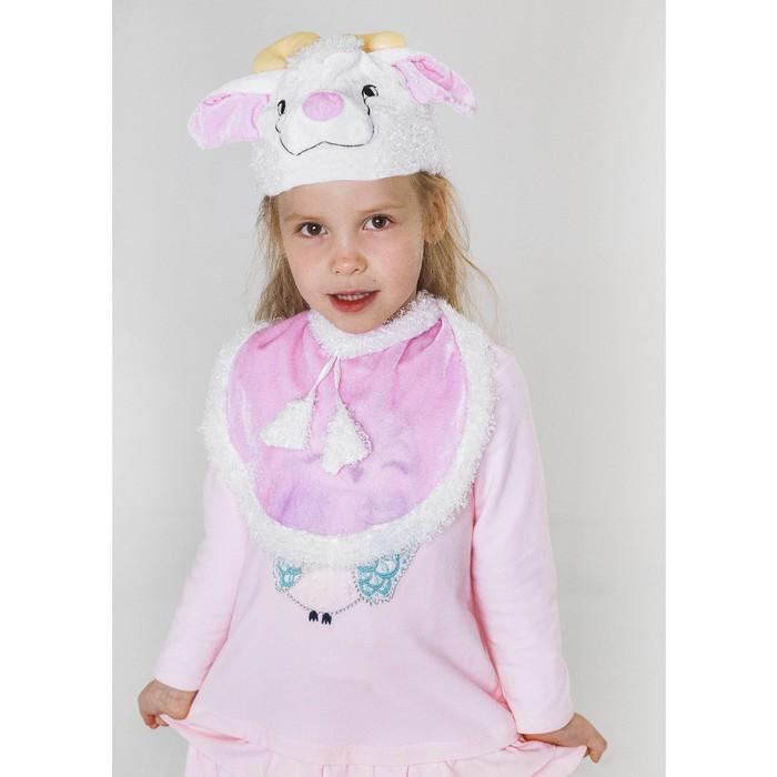 Карнавальный костюм «Овечка», шапка, манишка, 4-7 лет - фото 453670
