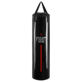 Мешок боксёрский FIGHT EMPIRE, на ленте ременной, чёрный, 120 см, d=35 см, 40 кг