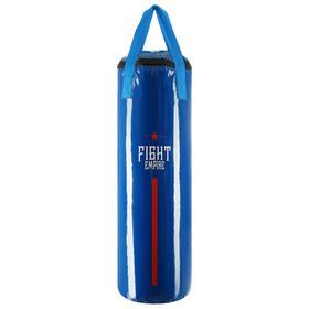 Мешок боксёрский FIGHT EMPIRE, на ленте ременной, синий, 80 см, d=25 см, 15 кг