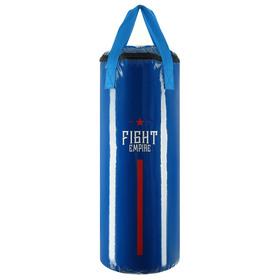 Мешок боксёрский FIGHT EMPIRE, на ленте ременной, синий, 80 см, d=31 см, 25 кг
