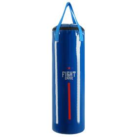 Мешок боксёрский FIGHT EMPIRE, на ленте ременной, синий, 100 см, d=33 см, 30 кг