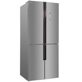 Холодильник Hansa FY418.3DFXC, класс А+, Side by Side, 440 л, Full No Frost, серебристый