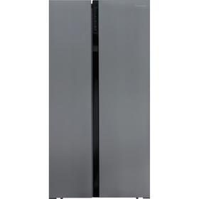 Холодильник Shivaki SBS-574DNFX, класс А+, Side by Side, 570 л, Full No Frost, серебристый