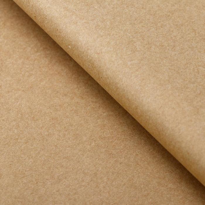 Бумага упаковочная тишью, бежевый, 50 х 66 см