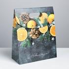 Пакет с клапаном «Счастливого Нового года», 26 × 32 × 12 см