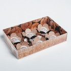 Коробка для макарун с подложками New year wishes, 17 × 12 × 3 см