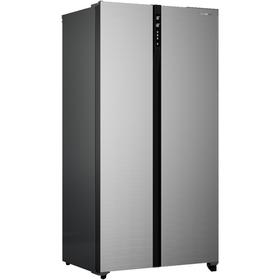 Холодильник Shivaki SBS-444DNFX, класс А+, 436 л, No Frost, Side by Side, серебристый