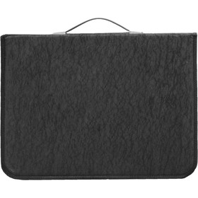 Папка-Портфолио для художественных работ формата А3 с ручками, на кольцах, 460 х 330 х 30 мм, черная (текстильная), Estado