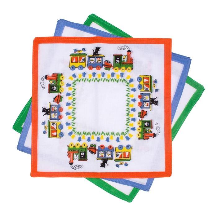 Набор детских носовых платков Etteggy (6шт) 25х25см печать полотн. 66г/м, хл100%