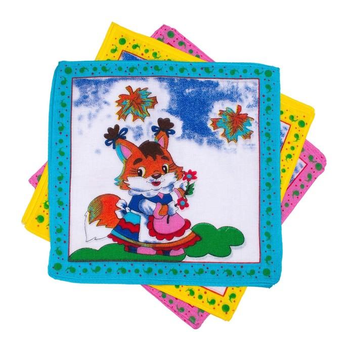 Набор детских носовых платков Melagrana 20х20см 12шт ситец 66г/м хл100%