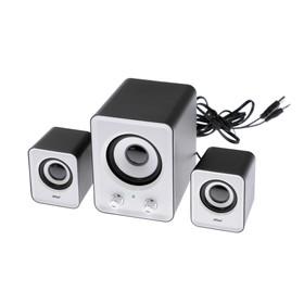 2.1 speaker system LuazON, 2*1.5 W, 13W subwoofer, 3.5/Jack/USB, 80dB, white
