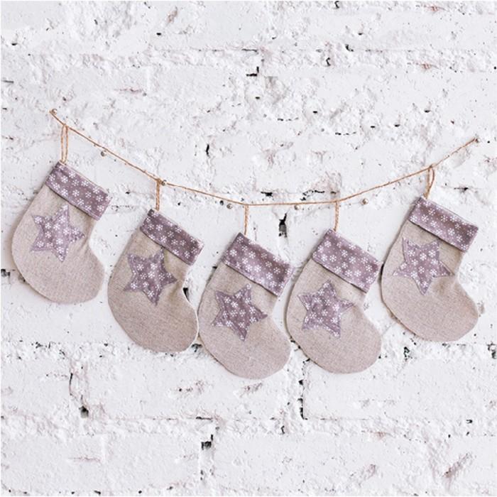 Мягкая гирлянда «Время подарков», набор для шитья, 16.3 × 10.7 × 2.5 см - фото 691877