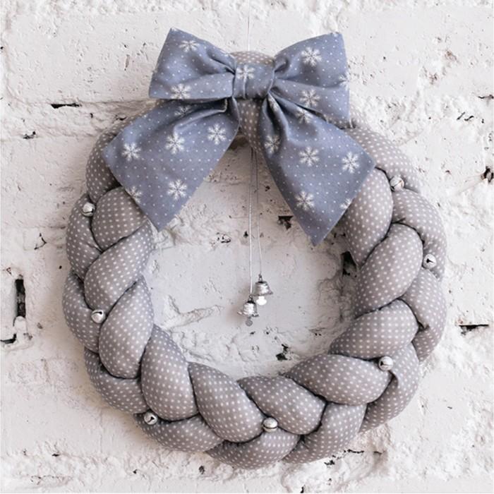 Мягкий венок «Зимний праздник», набор для шитья, 16.3 × 10.7 × 5 см - фото 691883
