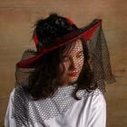 Карнавальная шляпа «Вуаль», цвет красный