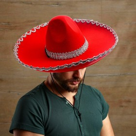 Carnival hat, Sombrero, color red