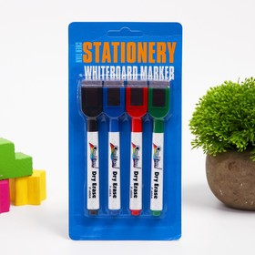 "A set of markers with sponges and magnets ""Classic"" set of 4 PCs"