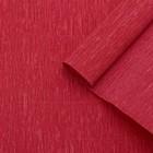Бумага креп, простой, цвет красный, 0,5 х 2,5 м