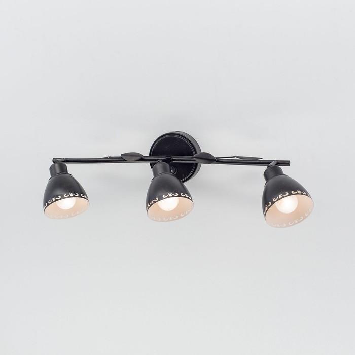 Светильник Робуста, 3x60Вт Е14 венге, белый