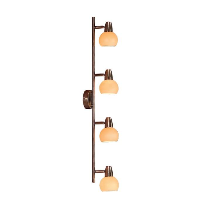 Светильник Бонго, 4x60Вт E14 бронза