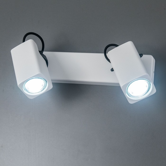 Светильник Норман, 2x50Вт GU10 белый, чёрный