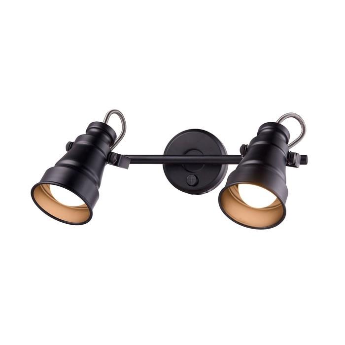 Светильник Бейкер, 2x60Вт E14 чёрный