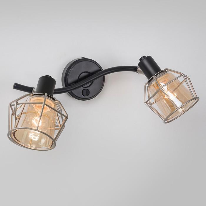 Светильник Таверна, 2x60Вт Е14 чёрный