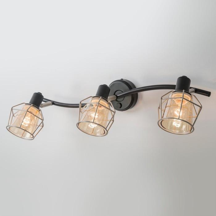 Светильник Таверна, 3x60Вт Е14 чёрный