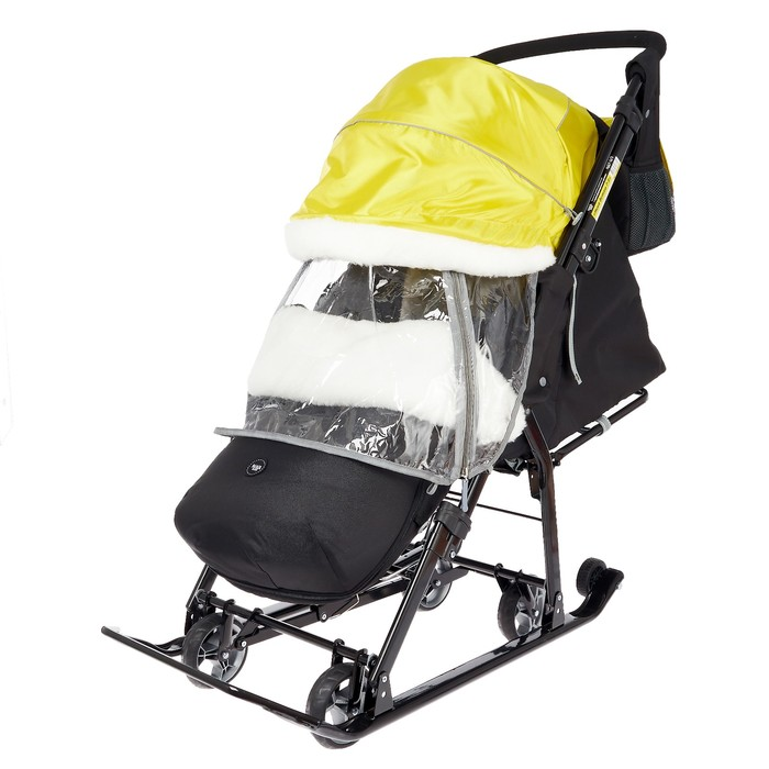 Санки коляска «Ника Детям НД 7-5» цвет чёрно-золотой