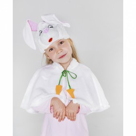 """Carnival costume """"Bunny""""cap,Cape R-R30"""
