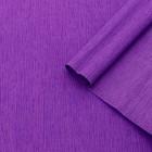 Бумага креп, простой, цвет сиреневый, 0,5 х 2,5 м