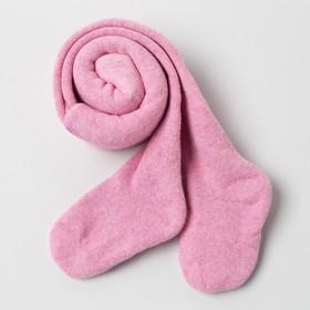 Колготки детские махровые, цвет розовый, рост 68-74