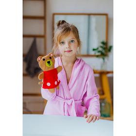 Мочалка варежка детская Доляна «Медвежонок»