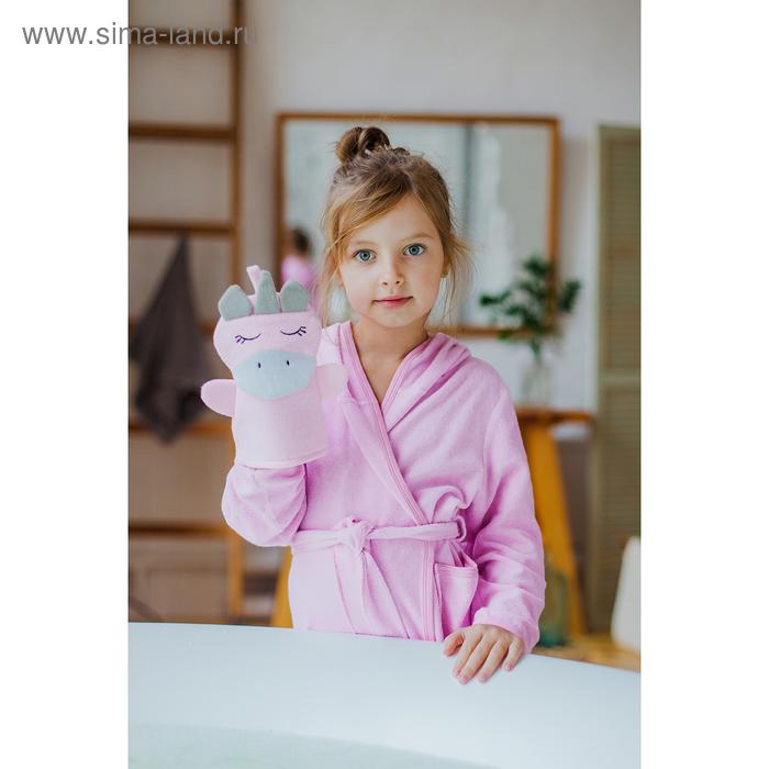 """Washcloth mitten children's """"one unicorn's"""""""