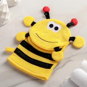 """Washcloth mitten children's """"Bee"""""""