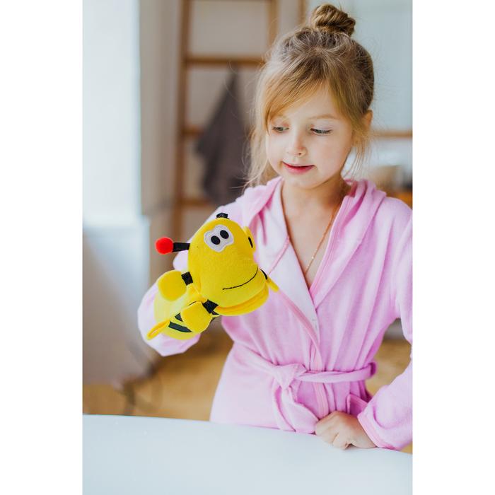 Мочалка-варежка детская Доляна «Пчёлка»