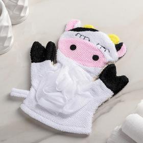 """Washcloth mitten children's """"mu-Mu"""""""