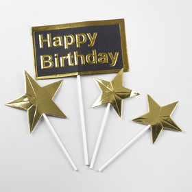 """The topper is """"happy Birthday"""" set of 4 PCs"""