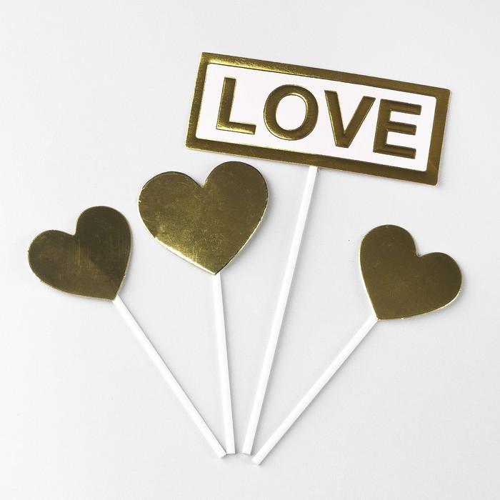 Топпер «Любовь», набор 4 шт. - фото 700588