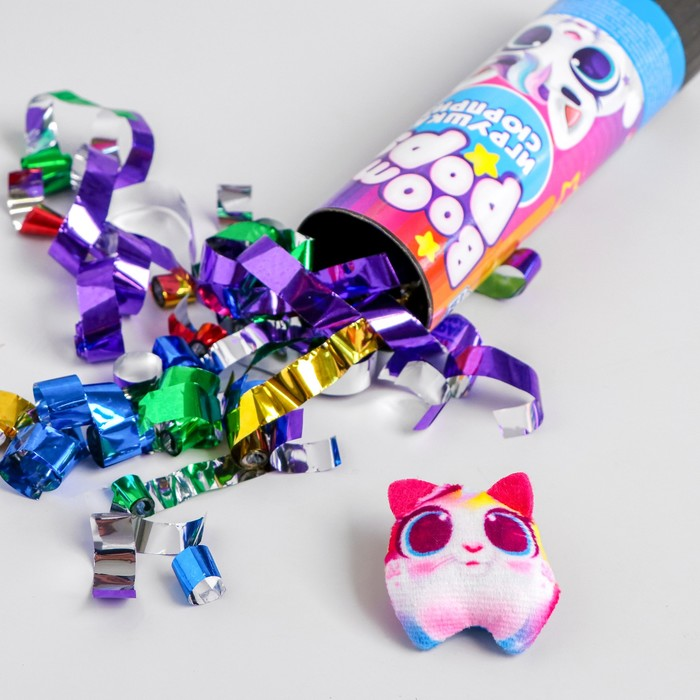 Хлопушка с игрушкой Boom pops, котик