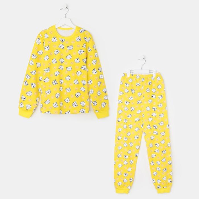 Пижама для девочки, «Единороги» чёрный, рост 110-116 см