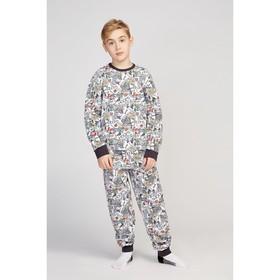 Пижама для мальчика HOOPS play, цвет белый, рост 146 см