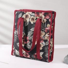 Сумка для рукоделия «Цветы», 35 × 30 × 7 см