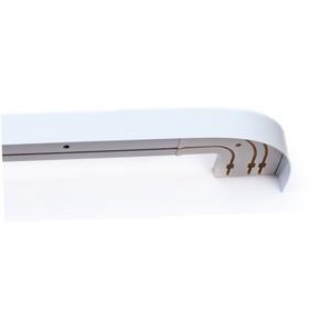 Карниз трёхрядный «Классик», ширина 350 см, цвет белый