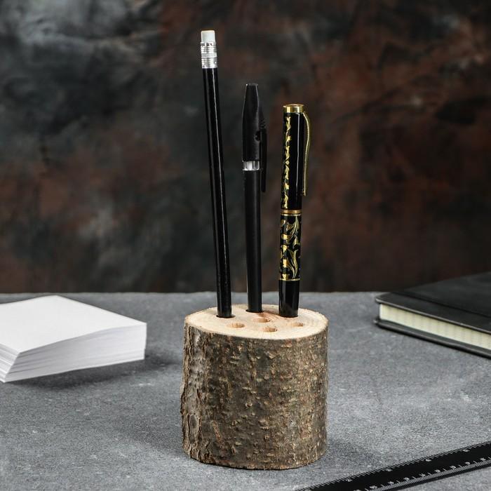 Подставки под ручки и карандаши, d-6, h-7 см, массив дуба