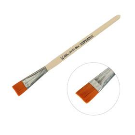 Кисть Синтетика Плоская №22 (ширина обоймы 22 мм; длина волоса 21 мм), деревянная ручка, Calligrata