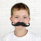 Mustache curls up on the band, R-R 14*2 cm, Col.black