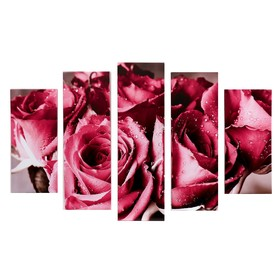 "Модульная картина ""Букет из роз"" (2-23х52; 2-24х70; 1-24х80) 120х80см"
